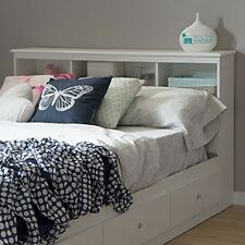 South Shore 3550093 Crystal Full Bookcase Headboard 54in Pure White NEW