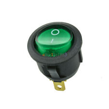 Imported 5Pcs Mini 3 Pin Round Green SPDT ON-OFF Rocker Switch Snap-in