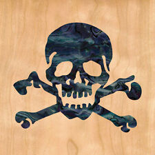 Skull ( Black Pearl ) Inlay Sticker Decal Guitar & Bass