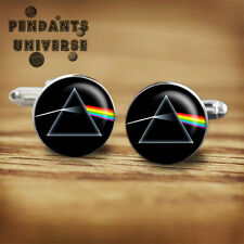 Pink Floyd Dark Side of the Moon handmade cufflinks