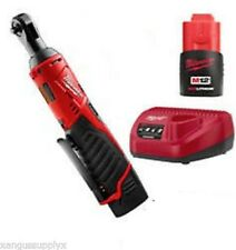 """Milwaukee M12 Cordless 1/4"""" Drive Ratchet Wrench Variable Speed with Battery"""
