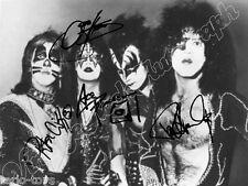 KISS  - print signed photo - foto con autografo stampato