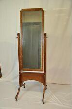 Antique Edwardian Art Nouveau Quartersawn Oak Cheval Mirror c. 1900's