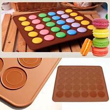 30 cavité silicone Macaron Pâtisserie Plaque de Four Mat moule cake café New EH