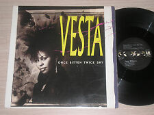 "VESTA WILLIAMS - ONCE BITTEN TWICE SHY - MAXI-SINGLE 12"" U.S.A."