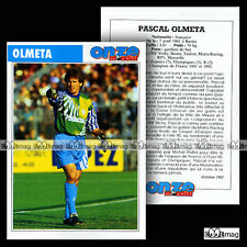 OLMETA PASCAL (MATRA RACING, RP1, OM OLYMPIQUE MARSEILLE) - Fiche Football 1992
