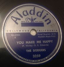 THE  DODGERS Let's Make A Whole Lot Of Love 78 RPM Aladdin 3259