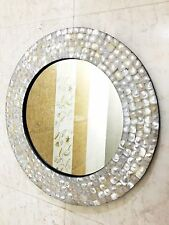 Wall Hanging Mirror Bedroom MOP Inlay Frame Accessories Decorative Decor
