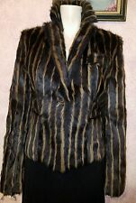 NEW $2999 VALENTINO EXOTIC STRIPED ANTELOPE FUR COAT JACKET sz 48EU 10US