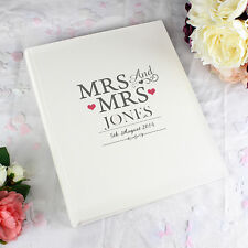 Personalised Mrs & Mrs Traditional Beautiful Photo Album Wedding Day Gift Ideas
