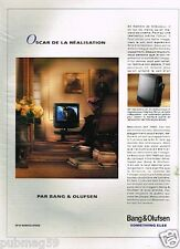 Publicité advertising 1993 TV Hi-fi Bang & Olufsen