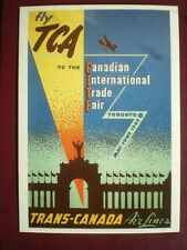 POSTCARD 1948 POSTER FLY T.C.A TO CANADIAN INTERNATIONAL TRADE FAIR