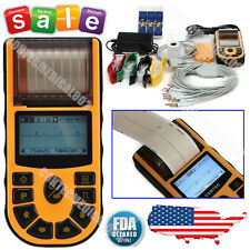 FDA ECG80A 1 Channel 12 leads ECG EKG Electrocardiograph+USB+PC software,Printer