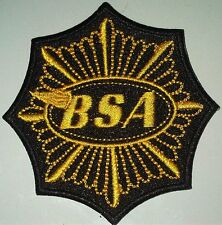 BSA Gold star octagon sew on cloth patch   (yy)