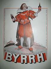 PUBLICITE DE PRESSE BYRRH VIN APERITIF THUIR ILLUSTRATION LEONNEC FRENCH AD 1936
