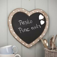 GISELA GRAHAM KITCHEN MEMO BOARD MESSAGE CHALKBOARD POLKA DOT WOOD HANGING HEART