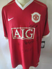 Manchester United Home Shirt Signed Squad 2006-2007 Football Shirt COA 34422