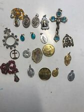 Religious Items Medal Cross Lot 20 Pieces #26 As Is