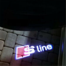 2 LED Projector Shadow Logo Light Laser Courtesy Door Lamp For AUDI A3 A4 TT