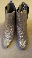 Ladies new with tags silver glitter ankle  boots size 5