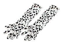Dalmatien imprimé pointillé GANTS Evil Chien Lady Cruella de Ville Déguisement