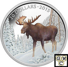 2015 The Majestic Moose Colorized Prf $20 Silver Coin 1oz .9999 Fine (NT)(14070)