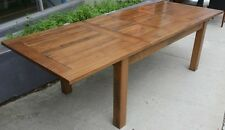 NEW SOLID TASMANIAN OAK Extension Dining Table 1.8/2.25/2.7 Double extension
