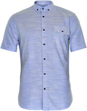 Matinique Yarn Short Sleeve Shirt/Chambray Blue - Small WAS £64.95, NOW £32.50