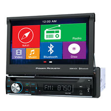 "Power Acoustik PDN-726B Single Din AM/FM/DVD & Bluetooth 7"" Car Radio w/Nav"