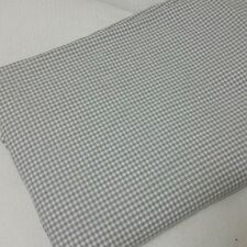 POTTERY BARN Neutral Gray White Gingham Checked TWIN Duvet Cover Portugal 62x84