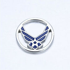 USAF US Air Force Blue Wing Limited Edition Window Plate for Origami Owl Lockets