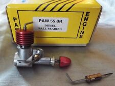 PAW 55 BR BALL BEARING DIESEL ENGINE .033 cu in. - BRAND NEW IN THE BOX
