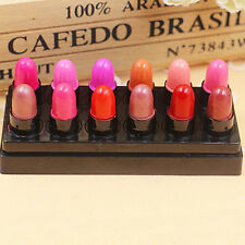 12PCS Lot Colors Long Lasting Mini Lipstick Glossy Waterproof Rouge Lip Gloss