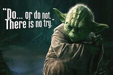 Star Wars Yoda quote Inspirational poster fabric silk 60X90 cm print wall decor