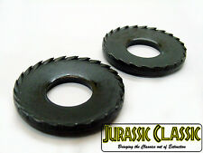 "2pc 1961-1984 Chevy 1/2"" Conical Toothed Black Oxide Bumper Bracket Washers NOS"