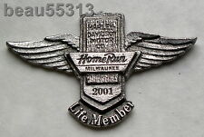 "HARLEY DAVIDSON HOME RUN ""LIFE MEMBER""  MILWAUKEE WISCONSIN 2001 HOG EVENT PIN"