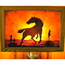 Rustic handmade night light by Innerlight - WILD HORSE - #110