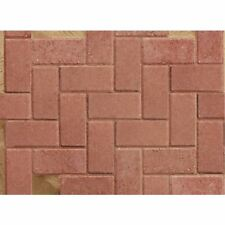 Standard 50mm Driveway Block Paving - 200x100x50mm Red (9.76m2 Pack Deal)
