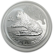 2010 2 oz Silver Australian Perth Mint Lunar Year of the Tiger Coin - SKU #54871