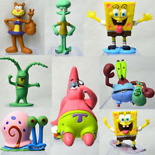 Set Of 8pcs Spongebob Patrick Star Squarepants Squidward Tentacles PVC Figures