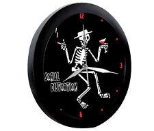 SOCIAL DISTORTION Skeleton Wanduhr Wall clock