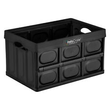 InstaCrate Collapsible 12Gallon Storage Bin Solution Container Archive Box Black
