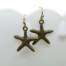 Starfish Earrings, Antique Bronze Finish Vintage Style Charm Pendant Earring