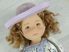 "2 WOVEN DOLL HATS PURPLE  5"" FITS EFFNER, ELLOWYNE AND MORE"