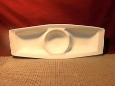 """American Atelier Dinnerware All White 3 Part Chip and Dip Server 16 1/4"""" x 6 1/8"""