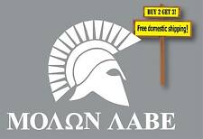 Molon Labe Gun Law Rights Greek Military Wounded Warrior Decal Sticker GN39