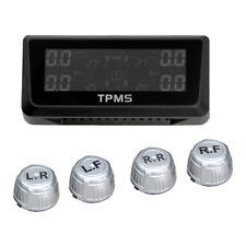 Tyre Pressure Monitoring System LCD 4 External Tire Sensors Solar Powered