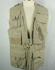 Vintage 1980's Banana Republic Khaki Hiking Safari Photography Vest Mens Sz S