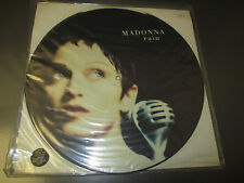 "1993 UK  Madonna ‎– Rain 12"", Picture Disc, Single Sided EX/VG+ Sire ‎– WO190TP"