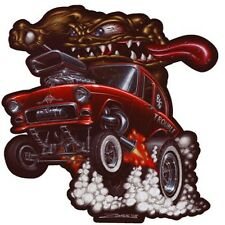 DECAL - RED CHEVY- STICKER - 55 CHEVY- MONSTER CAR- RED 55 CHEVY - SPEED SHOP